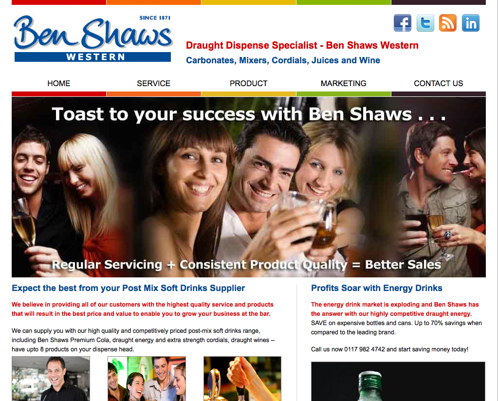 website marketing for Ben Shaws Western