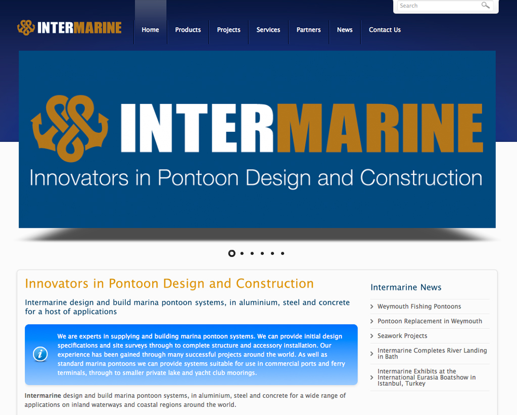 website marketing and seo for Intermarine